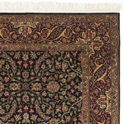 Chinese Hand-knotted Royal Kerman Black/ Red Wool Rug (3' x 5') - Thumbnail 1