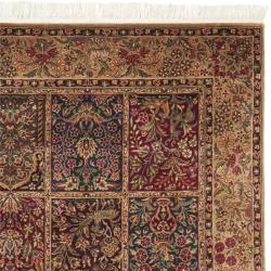 Chinese Hand-knotted Royal Kerman Multi/ Tan Wool Rug (4' x 6') - Thumbnail 1