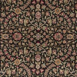 Chinese Hand-knotted Royal Kerman Black/ Red Wool Rug (3' x 5') - Thumbnail 2