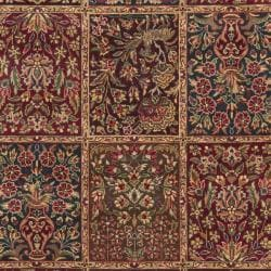 Chinese Hand-knotted Royal Kerman Multi/ Tan Wool Rug (4' x 6') - Thumbnail 2