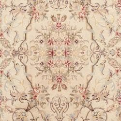 Chinese Hand-knotted Royal Kerman Beige/ Tan Wool Rug (3' x 5')
