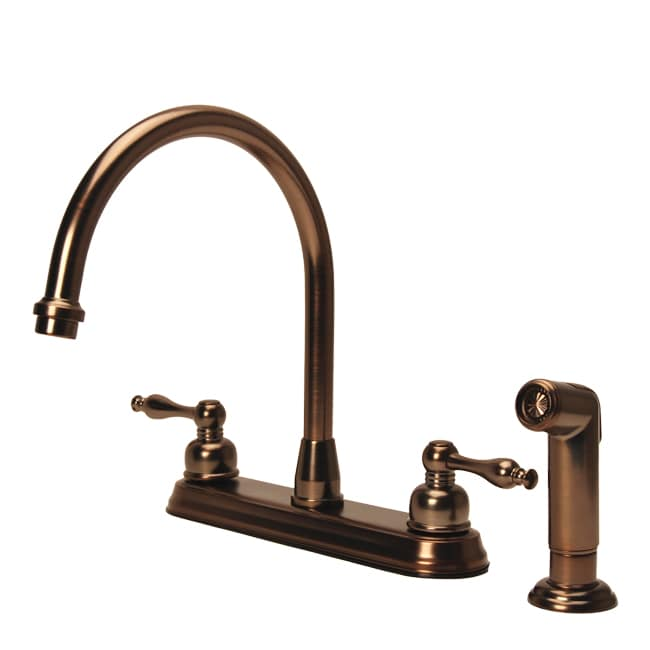 Fontaine Faucets : Fontaine 2-handle Widespread High Arc Brushed Bronze Kitchen Faucet ...