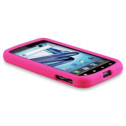 Pink Case/ Screen Protector/ Headset/ Wrap for Motorola Atrix 2 MB865