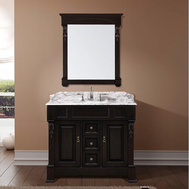 Aberdeen 40 Inch Single Sink Bathroom Vanity Set White