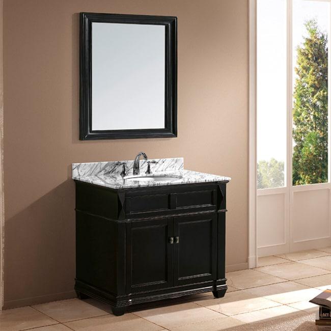 Shop Jacqueline Inch Singlesink Bathroom Vanity Set White - 38 inch bathroom vanity