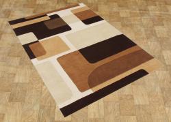 Alliyah Handmade Brown New Zealand Blend Wool Rug - Thumbnail 1