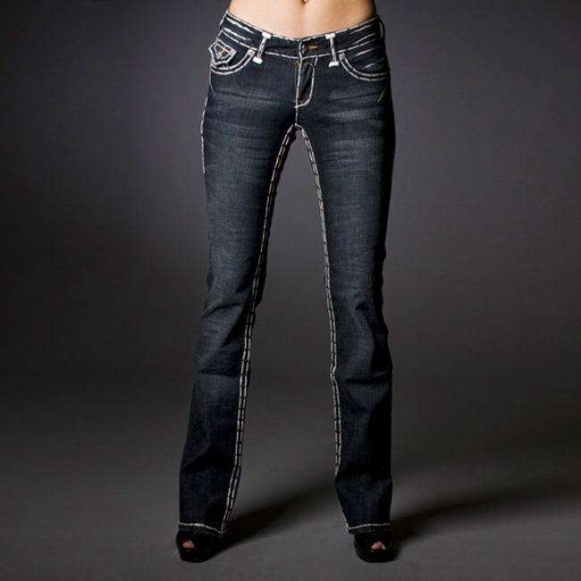 Laguna Beach Jean Company Women's Vintage Wash Denim Jeans