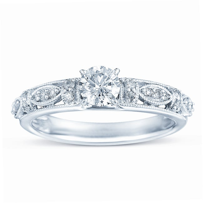 10k White Gold 1/2ct TDW Diamond Engagement Ring (H-I, I1-I2)