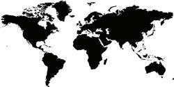 Instant Chalkboard World Map Sticker