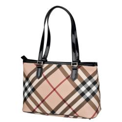 Burberry Small Nova Check Tote - Thumbnail 1