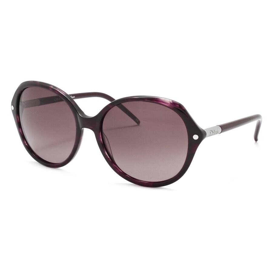 Chloe Women's Plum Horn Fashion Sunglasses