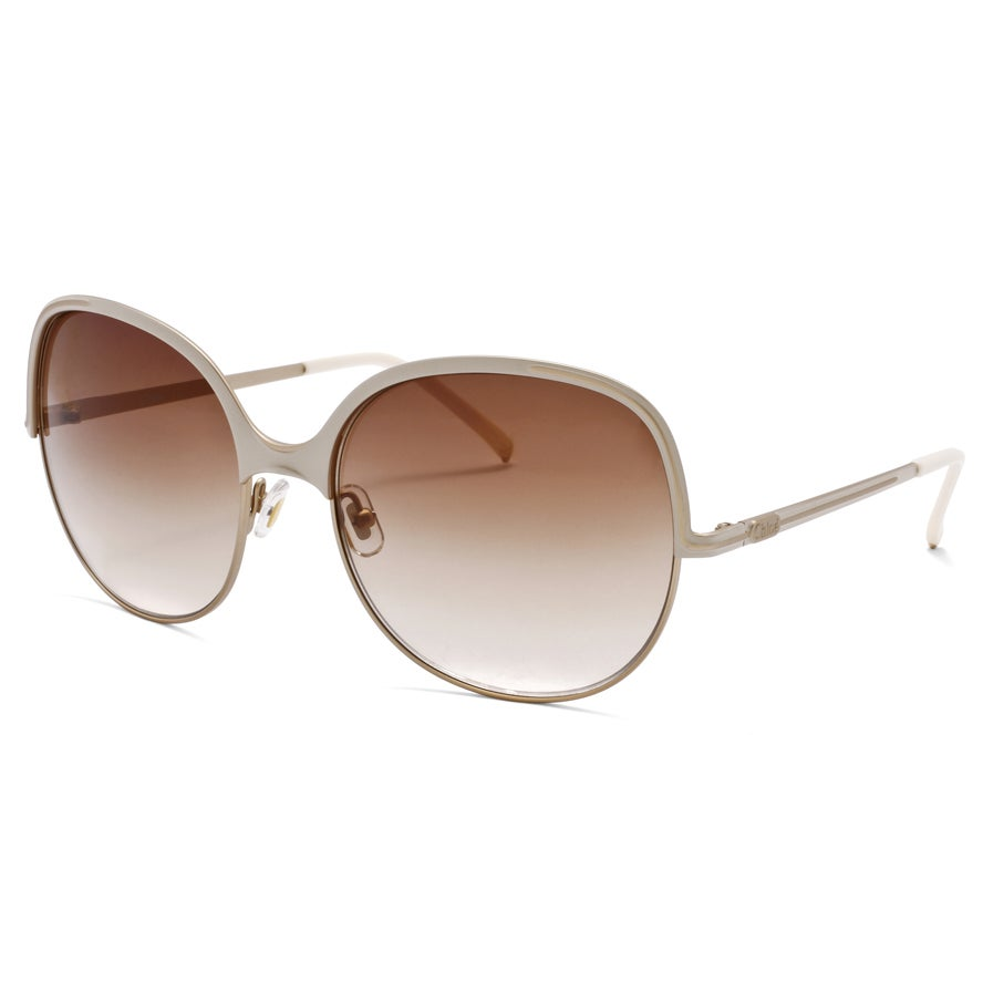 07db1e573a849 Shop Chloe Women s Matte Rose Gold  Ivory Fashion Sunglasses - Free  Shipping Today - Overstock.com - 6462877