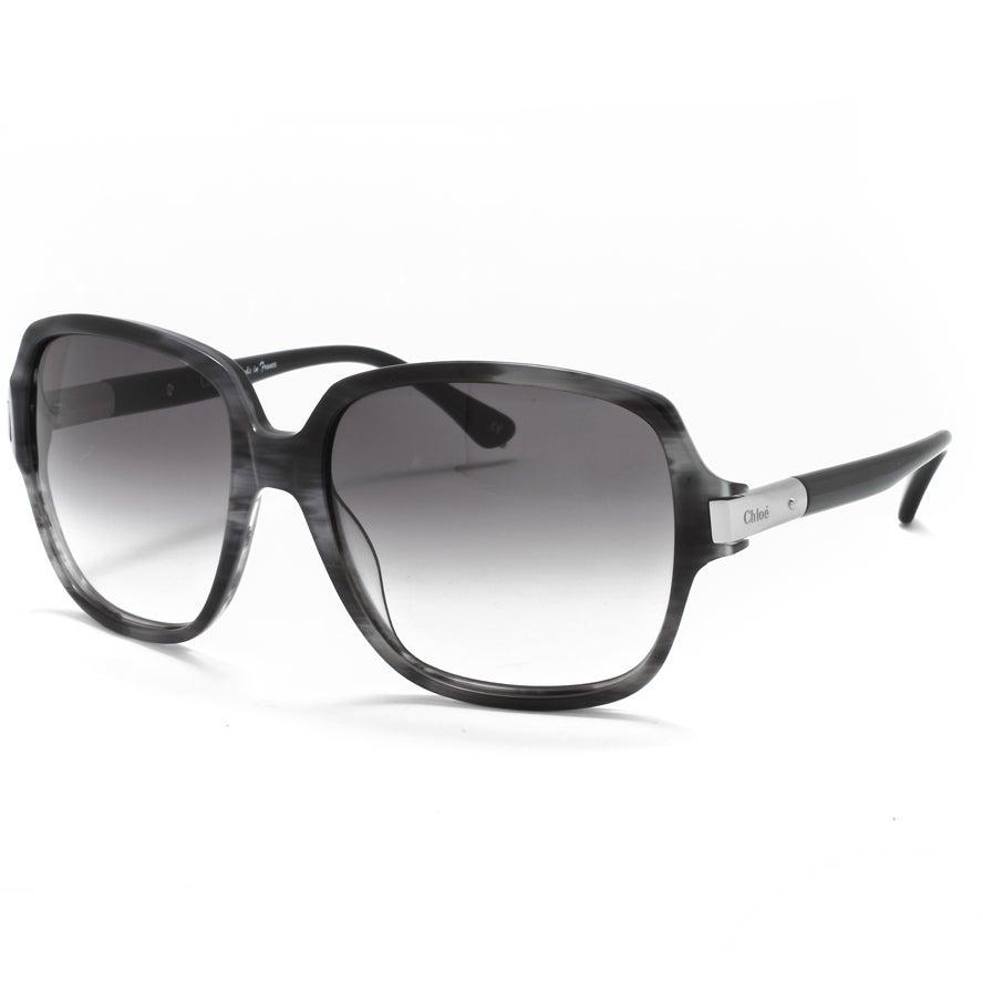 Chloe Women's 'Ammi' Blue Horn Fashion Sunglasses