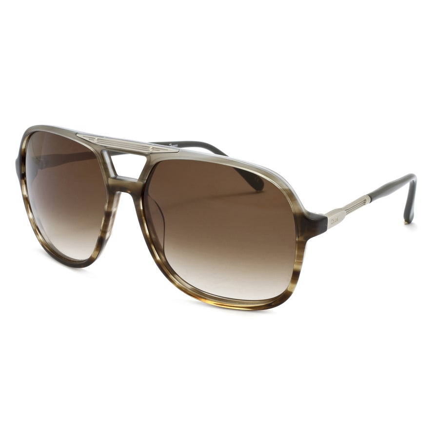 Chloe Women's 'Adonis' Brown Horn Fashion Sunglasses