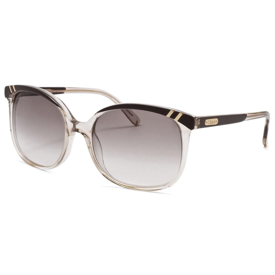 Chloe Women's 'Belladone' Light Brown Transparent Fashion Sunglasses