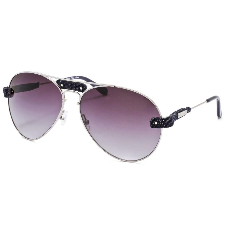 Chloe Unisex 'Tamaris' Silver/Grey Gradient Aviator Sunglasses