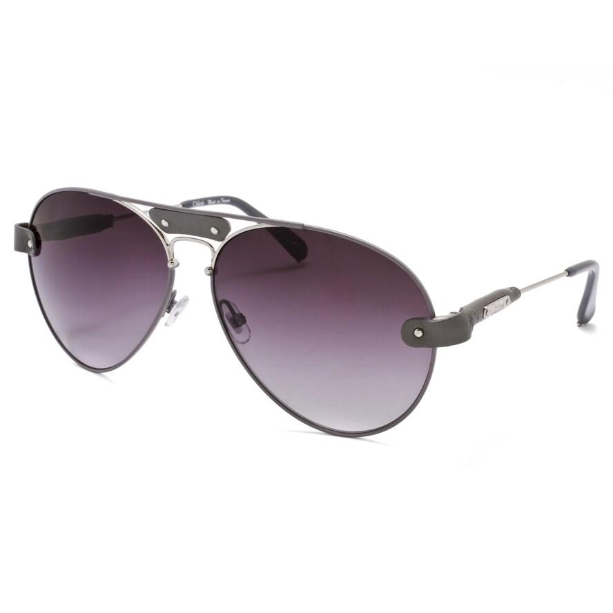 Chloe Unisex 'Tamaris' Grey Aviator Sunglasses