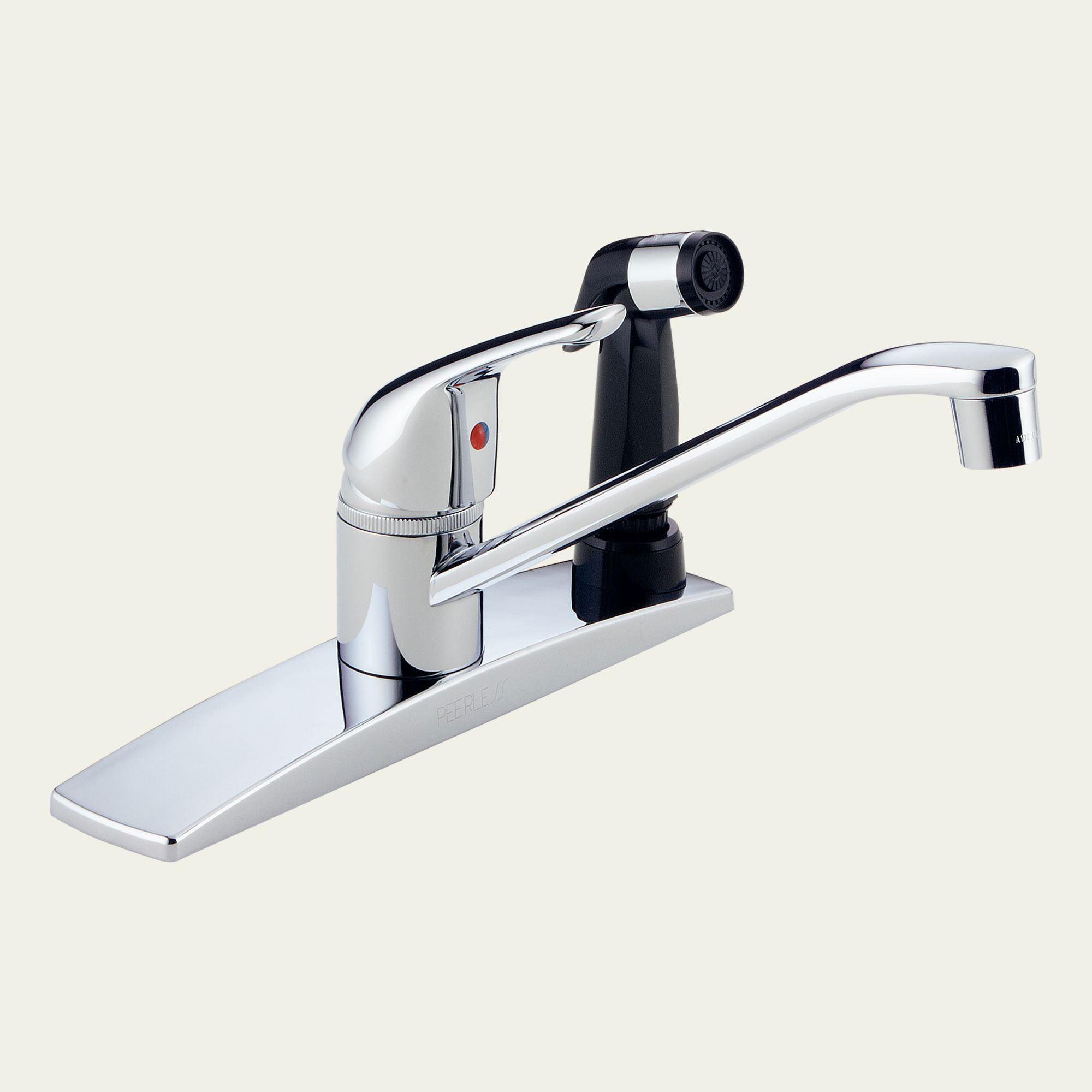 Peerless Lead Free Single Handle Chrome Kitchen Faucet and Side Spray