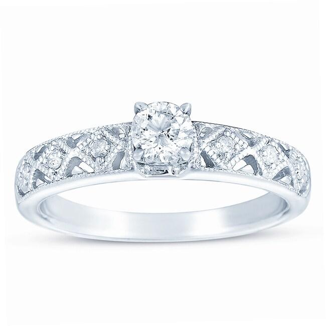 10k White Gold 3/8ct TDW Diamond Engagement Ring (H-I, I1-I2)