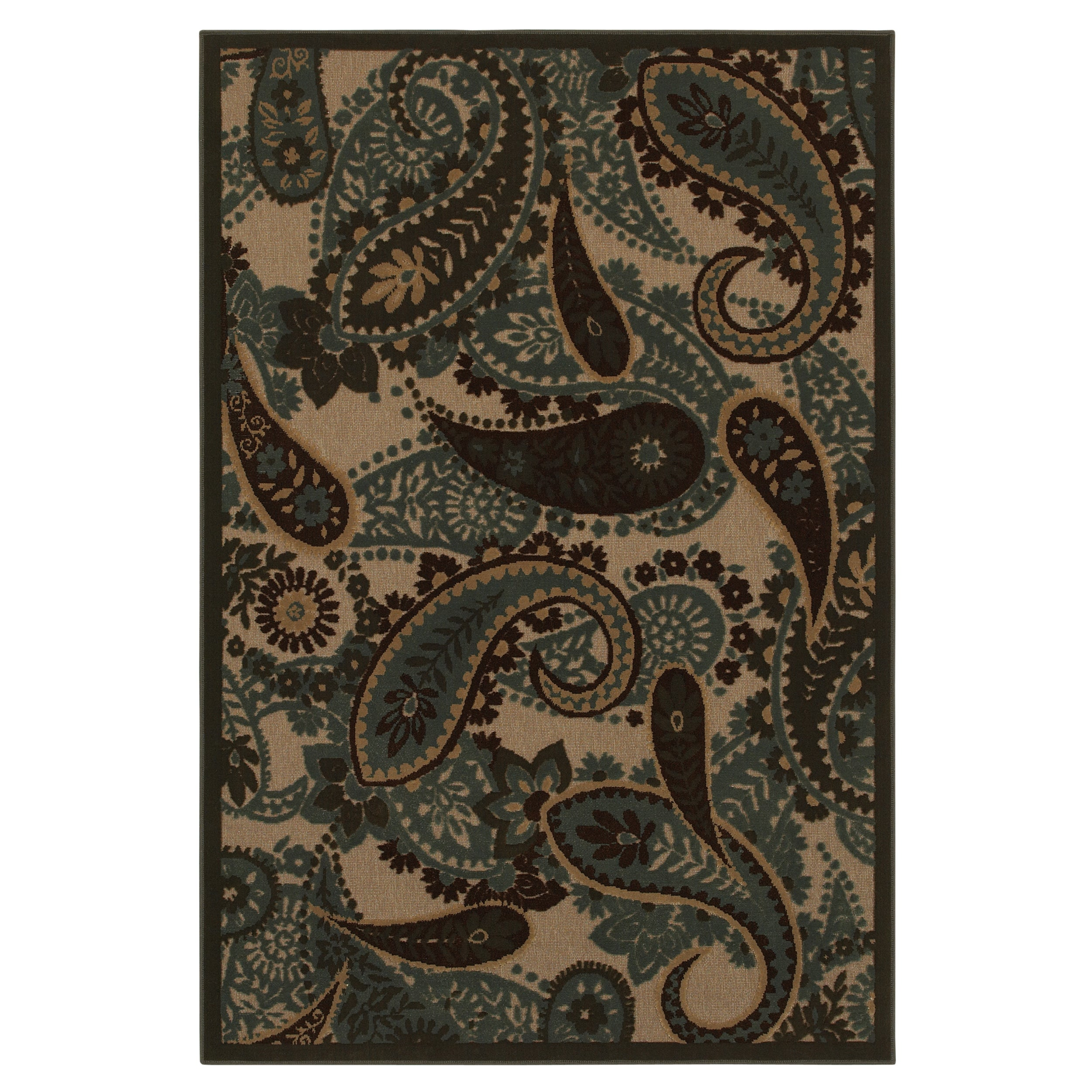 Jacobean Paisley Ivory Rug 5 X 7 Free Shipping Today