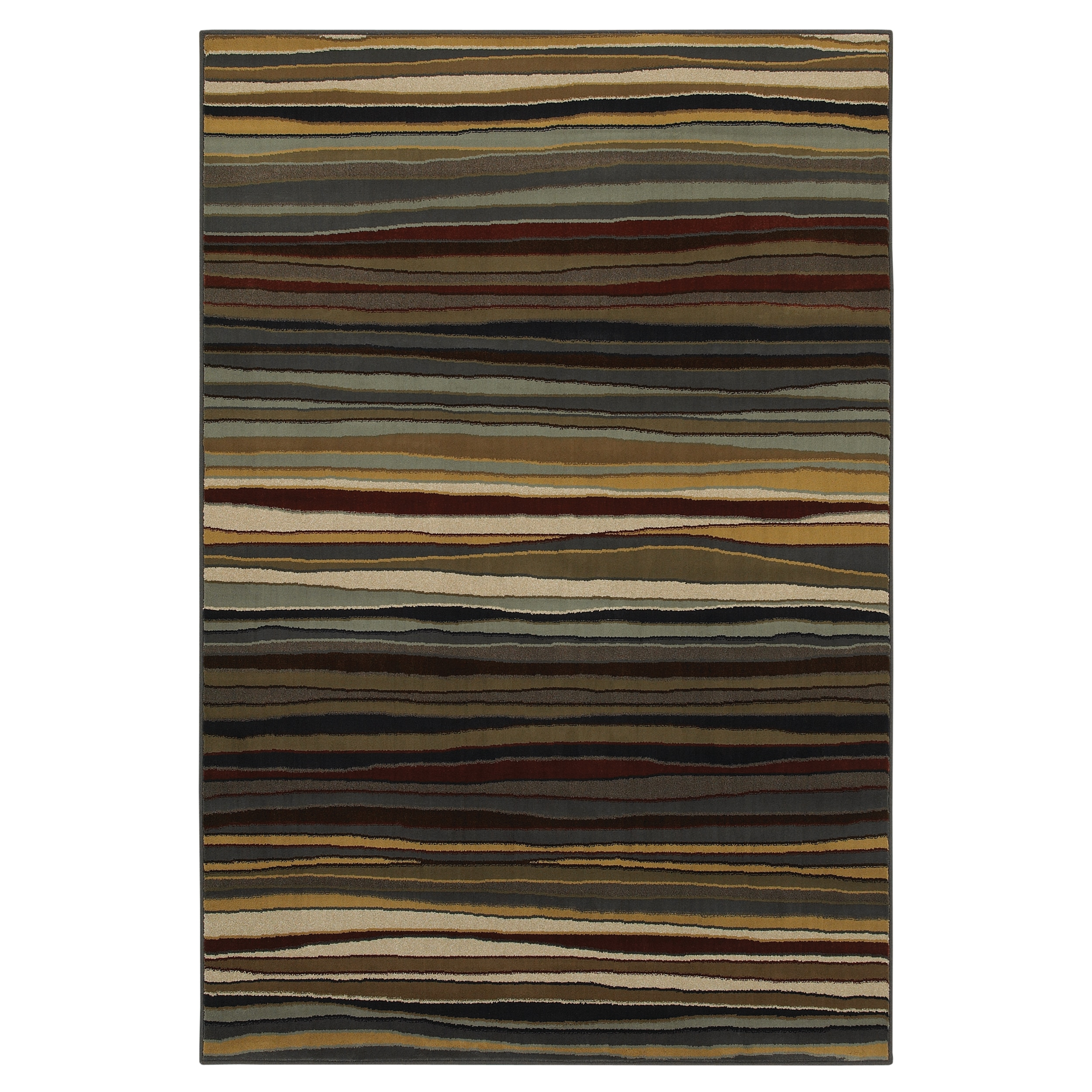 Rigby Brown Striped Rug (5'3 x 7'10)