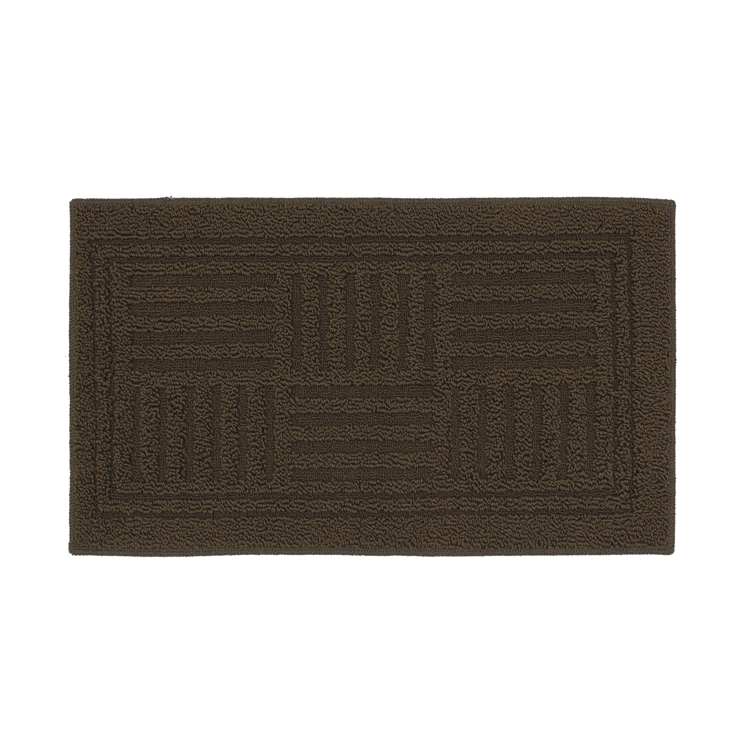 Grid Iron Mink Dark Taupe Solid Rug (2'3 x 3'9)