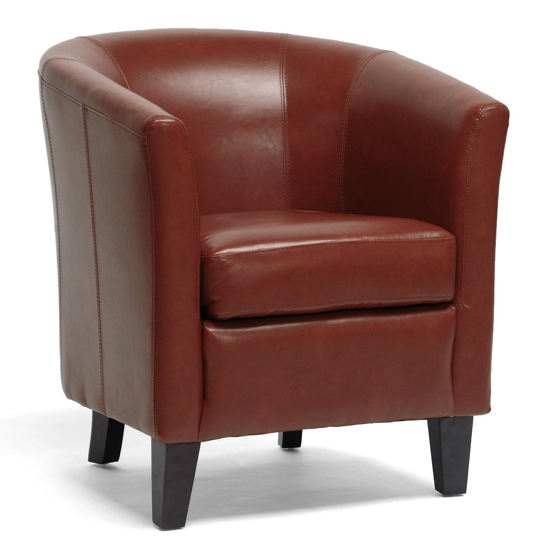 Bistro Cognac Brown Chair: Bourke Cognac Brown Leather Modern Club Chair