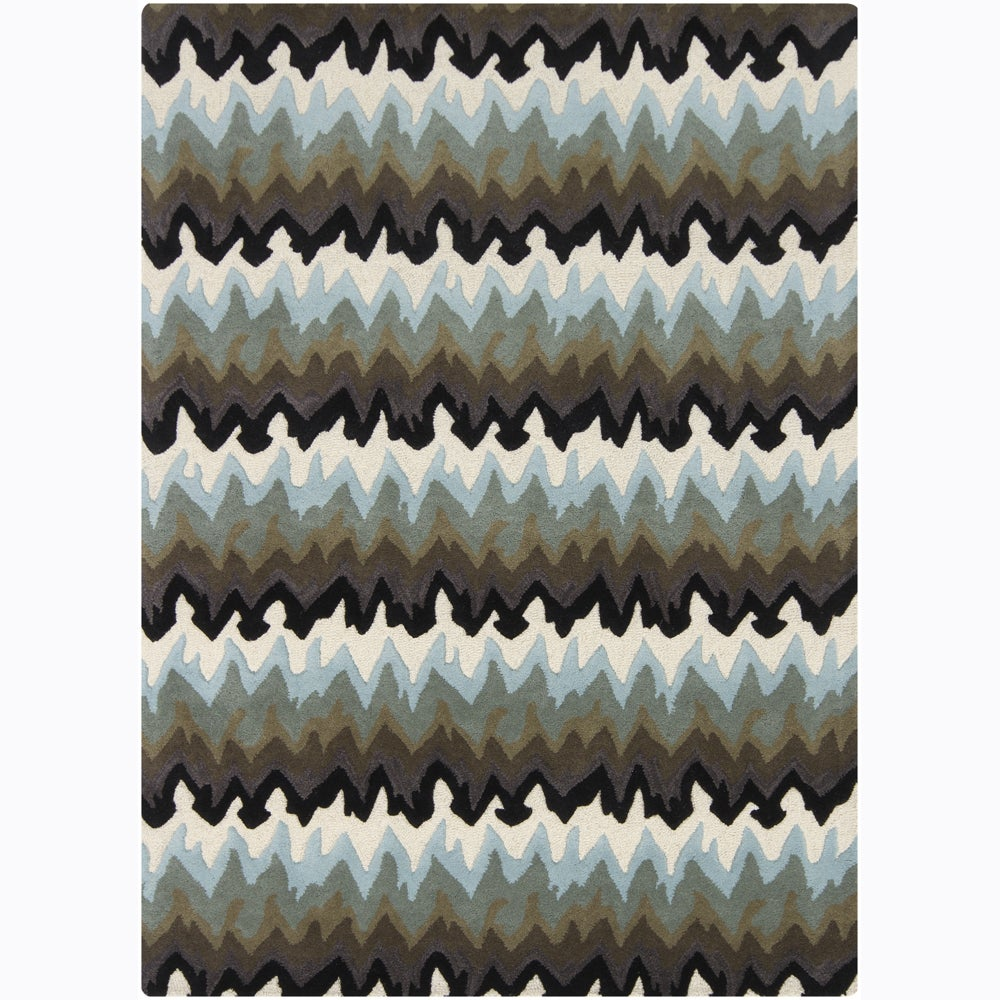 Artist's Loom Hand-tufted Contemporary Abstract Wool Rug (5'x7') - 5'x7'