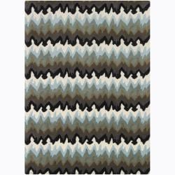 Artist's Loom Hand-tufted Contemporary Abstract Wool Rug (5'x7') - 5'x7' - Thumbnail 0