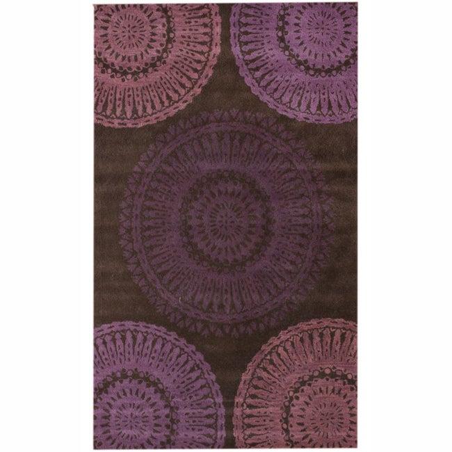 nuLOOM Handmade Whitney New Zealand Wool Rug (7'6 x 9'6)