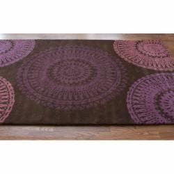nuLOOM Handmade Whitney New Zealand Wool Rug (7'6 x 9'6) - Thumbnail 1