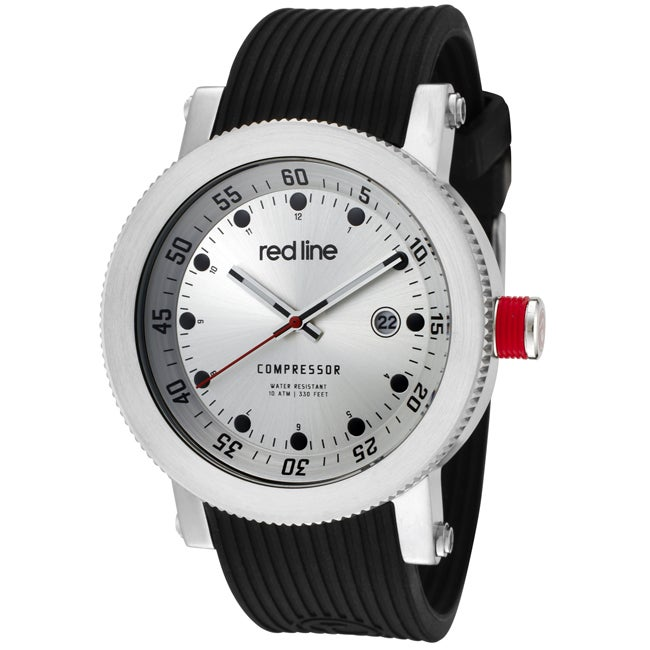 Red Line Men's 'Compressor' Black Silicon Watch - Free ... - photo #33