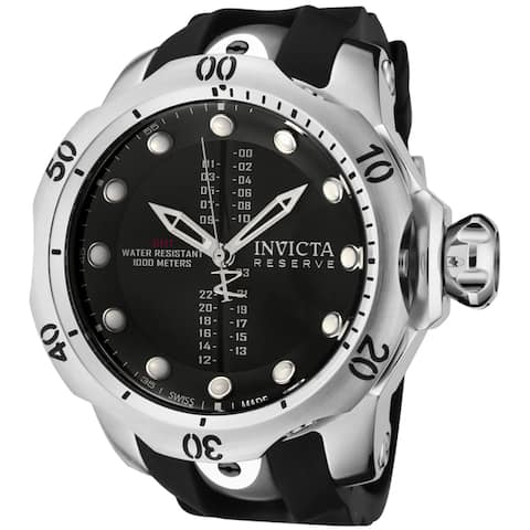 Invicta Men's R'eserve' Black Polyurethane Watch