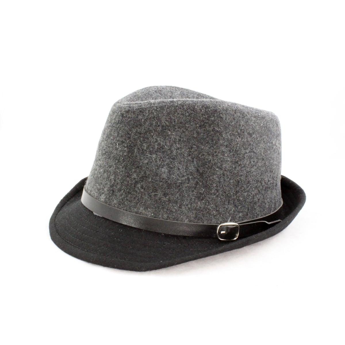 Faddism Black/ Grey Fedora Hat