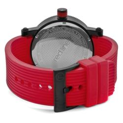 Red Line Men's 'Compressor' Red Silicon Watch - Thumbnail 1