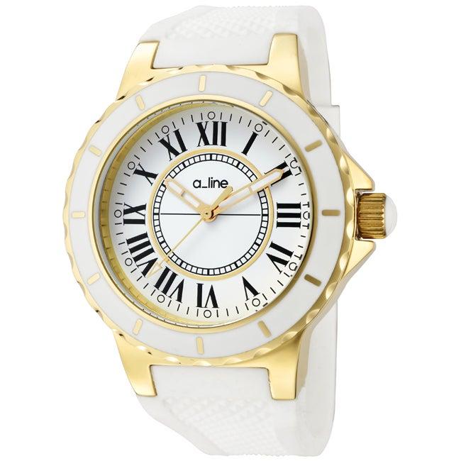 a_line Women's 'Marina' White Silicon Watch