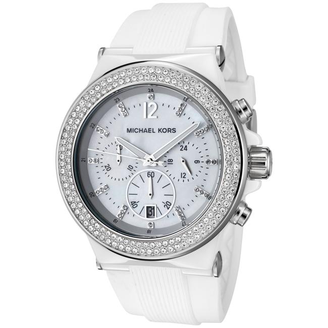 Michael Kors Women's White Silicon Watch