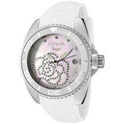 Invicta Women's 'Angel' White Rubber Watch
