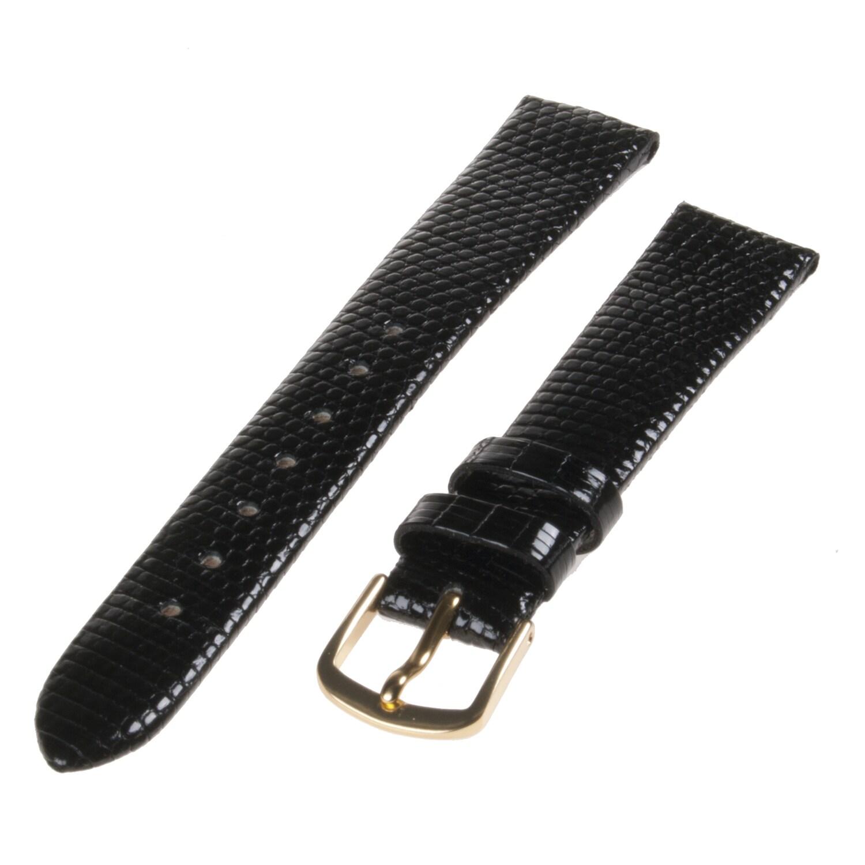 Republic Women's Genuine Java Lizard Black Leather Watch Band