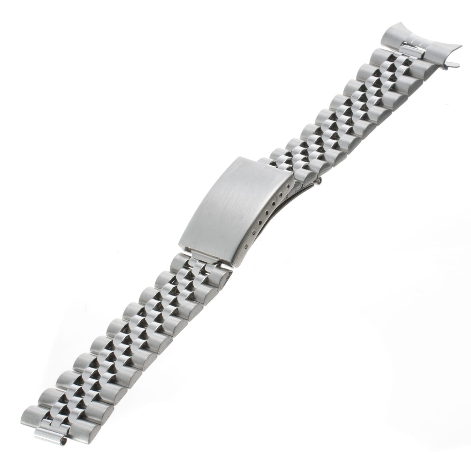 Republic Men's Square/ Curved End Stainless Steel Watch Bracelet