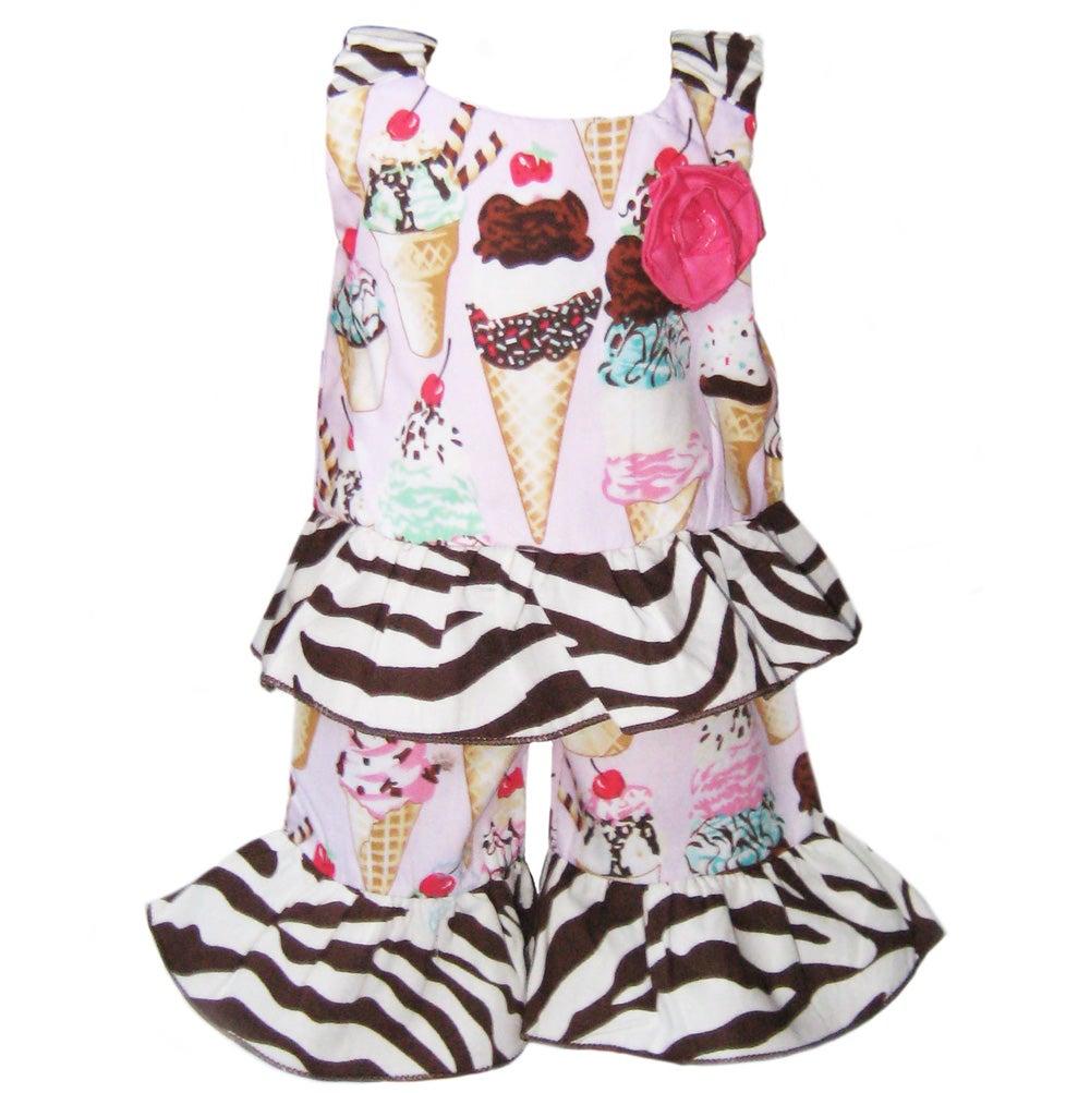 AnnLoren 2-piece Ice Cream Cone American Girl Doll Outfit