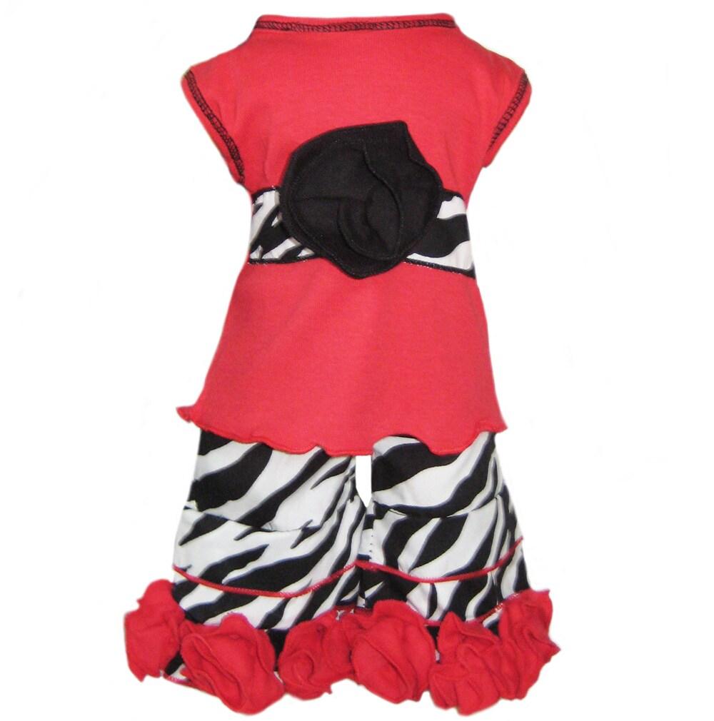 AnnLoren 2-piece Rose/ Zebra American Girl Doll Outfit