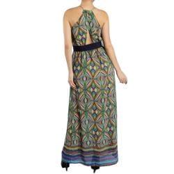 Tabeez Women's Tassle Belted Maxi Dress
