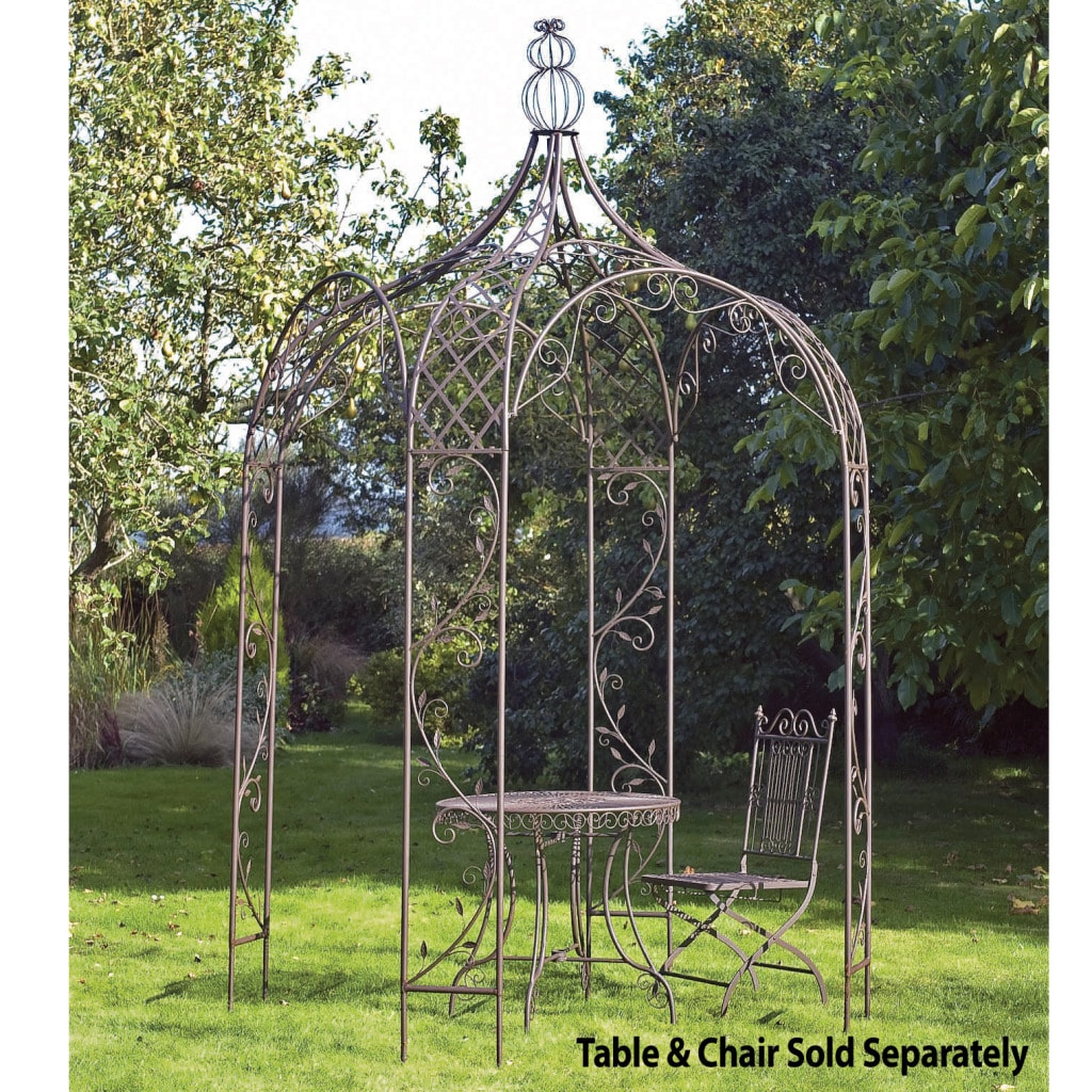 laura ashley chestnut garden gazebo free shipping today. Black Bedroom Furniture Sets. Home Design Ideas