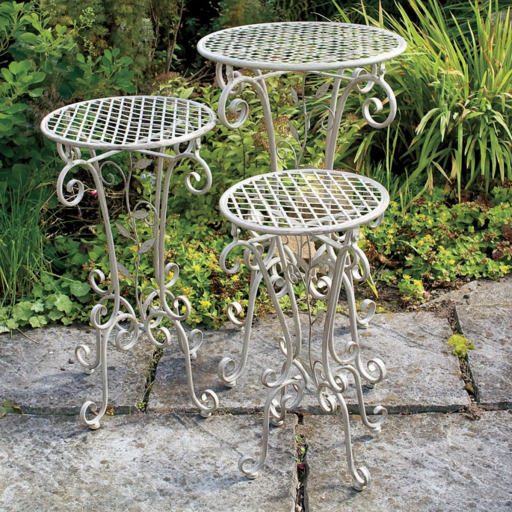 Thumbnail Laura Ashley Decorative Plant Stands (Set of 3) - Shop Laura Ashley Decorative Plant Stands (Set Of 3) - Free Shipping