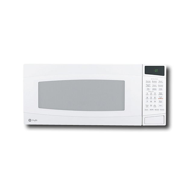 GE White Profile Spacemarker Countertop Microwave Oven