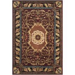 "Safavieh Handmade Aubusson Elancourt Red/ Burgundy Wool Rug - 7'6"" x 9'6"" - Thumbnail 0"