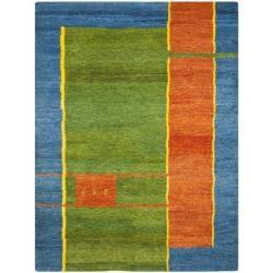 Safavieh Hand-knotted Gabeh Ancestry Multi Wool Rug (6' x 9')