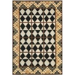 Safavieh Hand-knotted Gabeh Tribal Black/ Multi Wool Rug (4' x 6')