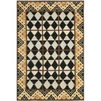 Safavieh Hand-knotted Gabeh Tribal Black/ Multi Wool Rug - 8' x 10'